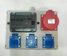 Stromverteiler Wandverteiler  3xSchuko ,1xCEE 16A mit Fi-Schalter