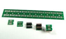 8 Pin SOIC to DIP adapter PCB board. SMD SOP8 SO8 SOIC8, DIP8, PCB-8SO-D3 20 pcs
