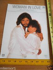 Barry Gibb Barbra Streisand Woman in Love photo sheet music 1980 Bee Gees