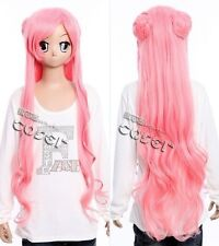 W-305 Code Geass Euphemia rosa pink 100cm cosplay perruque wig perruque cheveux bouclés