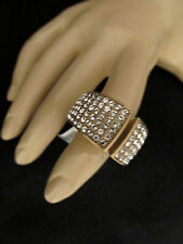 NEW ST JOHN KNIT SIZE 8  WOMENS DESIGNER JEWELRY GOLD RING  CRYSTAL
