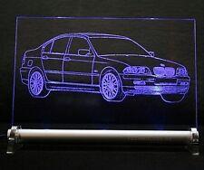 LED-Leuchtschild graviert ist BMW 3 e46 Limousine  AutoGravur 3er drei Limo 346L