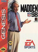Madden NFL 98 - Sega Genesis Game Complete