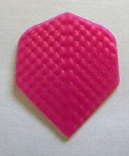 Dart Flights- 5 Embossed Pink Translucent Stand. Sets