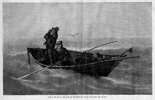 NEWFOUNDLAND FISHERMEN LOST IN THE FOG ON THE BANKS OF NEWFOUNDLAND SEAGULLS OAR