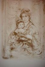 Elsa & Baby artist proof  1976 by Edna Hibel