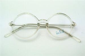 Vintage 43/45/50mm Eyeglass Frames Retro Round Glasses Clear Full-Rim Glasses