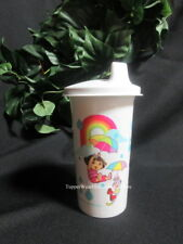 Tupperware New Dora the Explorer & Boots Tumbler w White Domed Sippy-sipper Seal