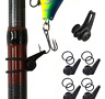 2 Set Utility Fishing Rod Pole Hook Keeper Lure Spoon Bait Tackle Accessories