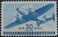 Stamp Us 30c Transport Plane, (Air Mail) Cat. #C30 Mint Lh/Og