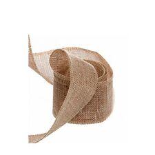 1M Natural Burlap Jute Hessian Flax Ribbon Roll Wedding Decor 2.5/5/10/15cm