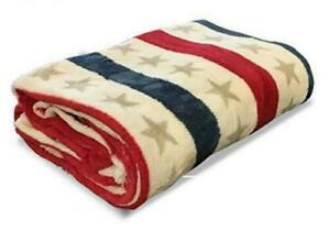 Catherine Lansfield Stars / Stripes Warm Fleece Blanket Bed Throw 120x150cm BNWT