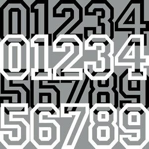 5cm Aufkleber Tattoo Auto Kart Haus Tür Nummer Zahl Ziffer Startnummer Racing