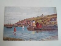 A R QUINTON Postcard 1945 Old Pier + Douglas Head Isle of Man -  §A2680
