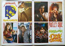 Vintage Lot of Heavy Metal/Rock Stickers, IRON MAIDEN METALLICA MOTLEY, Ephemera