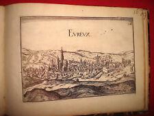 CARTE MAP PLANS NORMANDIE EVREUX  Lot de 2 cartes de 1631