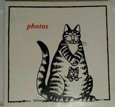 B. Kliban Momcat Photo Album, Large Vintage 70s Cartoon Cat Vinyl Scrapbook Book
