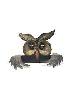 Rustic Metal Owl Hanging wall Art decor Black Brand new