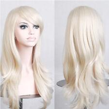 Helloween Cosplay Wig Women Curly Long Straight Wavy Black Brown Blonde Full Wig