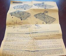 Munro hockey assembly instructions ,rules ,parts 1960's Type A,B,C,D