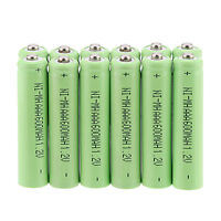 Hot sale 12Pcs Green AAA 3A 1.2 V 600mAh NI-MH rechargeable battery for toys