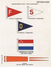 NETHERLANDS NAVY FLAGS. Flotilla/Squadron/Divisional Commander. Governors 1958