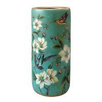 Umbrella Stand / Stick Holder - Oriental Ceramic - Humming Birds