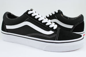 Vans Old Skool - Black/White - Classic Skate Shoes - Suede & Canvas - Men/Women