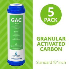 Granular Activated Carbon Water Filter Replacement – 10 inch –  GAC 5 Pack