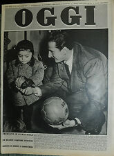 OGGI N°13 /27/MAR/1952 * NOVARA : SILVIO PIOLA IN FAMIGLIA - HENRY REGINALD HALL