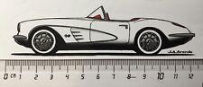 Sticker / Aufkleber, Chevrolet Corvette C1 weiß 1958-1961, Seitenansicht