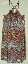 CHERRY LANE bead Halter TUNIC DRESS  aztec print  grecian neck NEW! ~ Women sz L