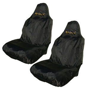 Wychwood 2x Car Seat Cover Protector Black Single Protective Cover NEW - H9140