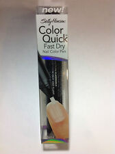 SALLY HANSEN COLOR QUICK FAST DRY NAIL COLOR PEN CLEAR #09 NEW