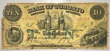 1929 Bank of Toronto $10 Chartered Banknote - No Reserve
