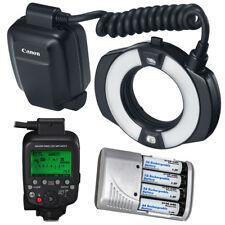 Canon MR-14EX II Macro Ring Lite + 4x AA Battery & Charger Bundle
