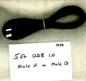 5ft Black USB 1.0 Male A to Male B....1043