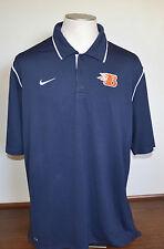 Nike  Fit Dri Large L  Blue  Men's Short Sleeve Polo Shirt  B