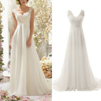 Women Lace Wedding Dress Cocktail Formal Prom Evening Party Maxi Dress Ball Gown