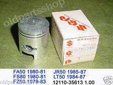 Suzuki FA50 FS50 FZ50 JR50 LT50 Piston 1.00 1979-1987 NOS 12110-35613 1.00