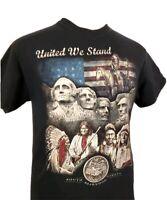 Deadwood South Dakota Native American Mt. Rushmore United We Stand T-Shirt Sz M