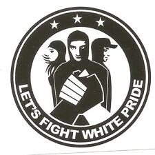 1000 Lets Fight wh. p. autocollant stickers punk gnwp antinazi AFA contre nazis dehors