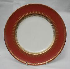 """Antique vintage royal worcester corail & or blanc avec centre plaque 9"""" nº 51"""