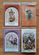 Lot of 4 Craft Scarecrow Doll Patterns Dream Spinners, Dotti's, S. Mccracken
