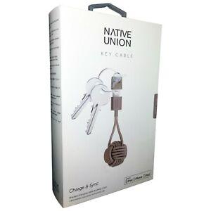 Native Union Key Cable MFi Lightning to USB Charge & Sync Taupe iPhone iPad iPod