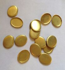 10 x  Vintage Oval Brass Cameo/Cabochon/Stone Settings -10 x 8 mm