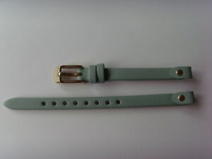 FOSSIL Original Ersatz Lederarmband ES3999 Uhrband grün mint 7 mm watch strap