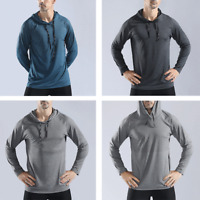 Men's Pullover Hoodie Casual Sports Gym Fitness Jumper Sweatshirt Quick Dry