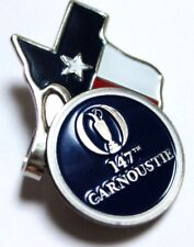2018, 147th, BRITISH OPEN, CARMOUSTIE, NAVY, Ball Marker with a TEXAS HAT CLIP
