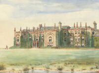 20th Century Watercolour - Combermere Abbey Cheshire